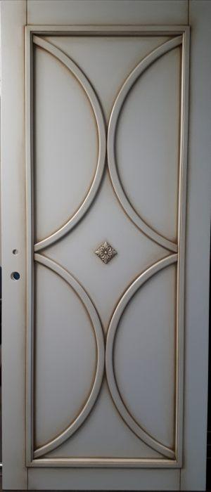Межкомнатная дверь в профиле массив (эмаль с патиной) Казань