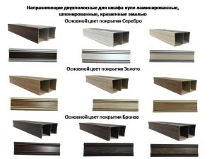 Направляющие двухполосные для шкафа купе ламинированные, шпонированные, крашенные эмалью Казань